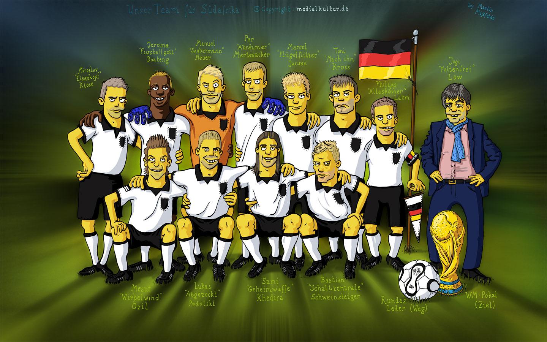 Wm 2010 Fussball Nationalmannschaft Als Simpsons Free