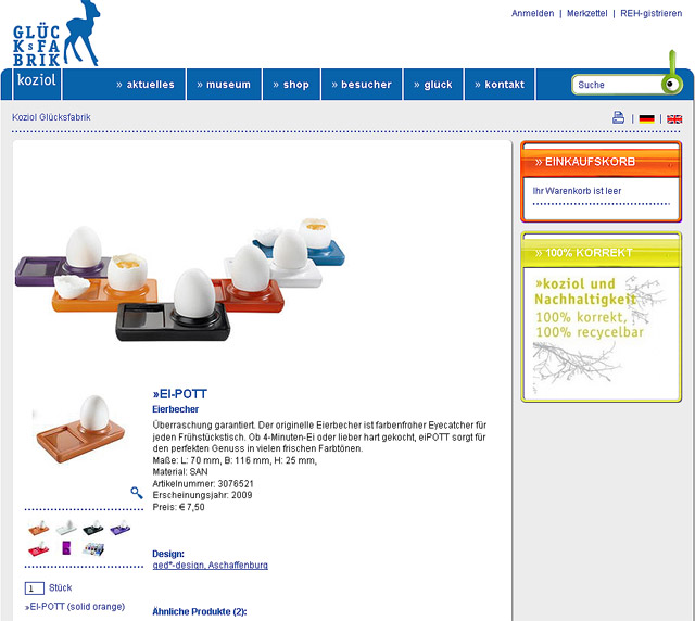 Webshop koziol: Eierbecher Ei-Pott